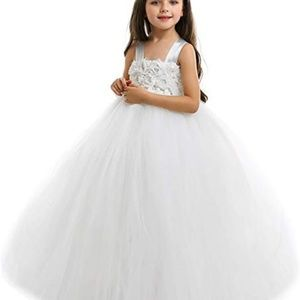 Other - Fluffy Flower Girl Tutu Dress Off-White